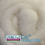 MC-1™ Merino Cross Batt – Natural Cotton White