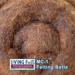 MC-1™ Merino Cross Batt – Cinnamon Brown
