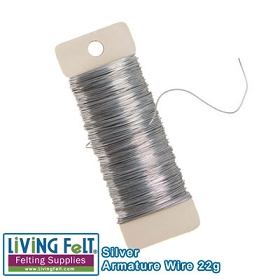 Wire Armature, Silver 22-Gauge 38yards