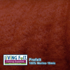 Prefelt 100% Merino Wool 19.5 Micron Burnt Orange