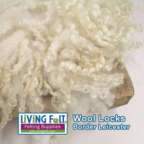 Border Leicester Natural Sheep Locks White