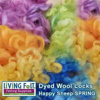 Dyed Curly Locks - Happy Sheep Spring Mix - 1oz