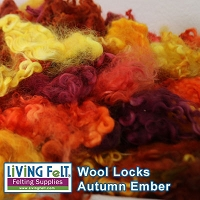 Dyed Curly Locks - Sheep's Wool - Autumn Ember