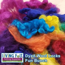 Dyed Wool Locks - Fun Bunch 4oz Packs