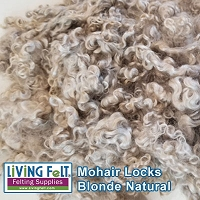 Premium Mohair Locks Natural - Blonde 1/2oz