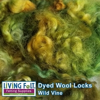 Dyed Curly Locks - Sheep's Wool - Wild Vine - 1oz