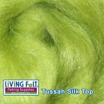 Tussah Silk Top - Kiwi