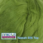 Tussah Silk Top - Leaf
