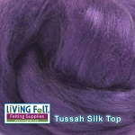 Tussah Silk Top - Violet