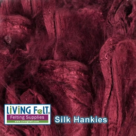 Silk Hankies (Mawata) - Bordeaux