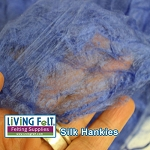 Silk Hankies (Mawata) - Cornflower