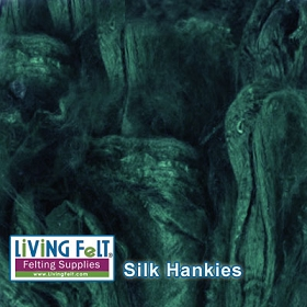 Silk Hankies (Mawata) - Evergreen