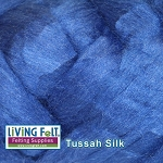 Tussah Silk Top - Royal Blue