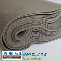 Felt Fabric 1mm - Ash Gray - 100% Wool