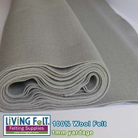 Felt Fabric 1mm - Light Gray - 100% Wool