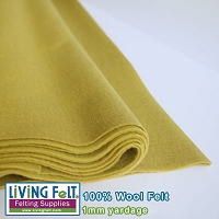 Felt Fabric 1mm - Sage  - 100% Wool