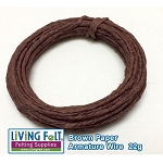 Wire Armature, Brown Paper 22 Gauge 24ft