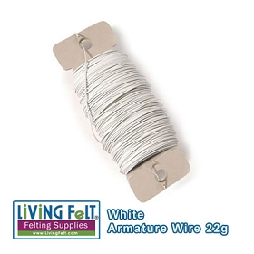 Wire Armature, White 22-Gauge 38yards