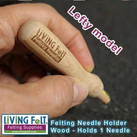 NEEDLE FELTING TOOL - WOOD HOLDS 1 - LEFTY