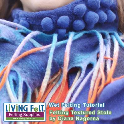 Beginners simple nuno felt scarf tutorial youtube.