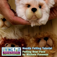 FREE Needle Felting Tutorial: Needle Felt a Bear Head Pin