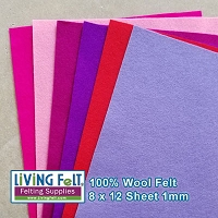 Felt Sheet 8 x 12 - 100% Wool - BUNDLE of LOVE