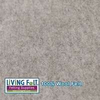 Felt Sheet 8 x 12 - 100% Wool - Driftwood- Heather Brown