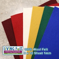 Felt Sheet 8 x 12 - 100% Wool - SANTA'S WORKSHOP