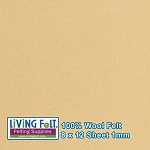 Felt Sheet 8 x 12 - 100% Wool - CAMEL