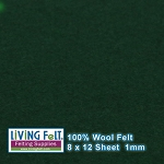 Felt Sheet 8 x 12 - 100% Wool - FOREST