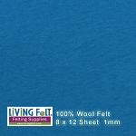 Felt Sheet 8 x 12 - 100% Wool - LAGOON