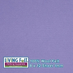 Felt Sheet 8 x 12 - 100% Wool - LAVENDER