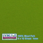 Felt Sheet 8 x 12 - 100% Wool - LEAF