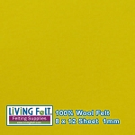 Felt Sheet 8 x 12 - 100% Wool - LEMON