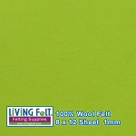 Felt Sheet 8 x 12 - 100% Wool - LIME