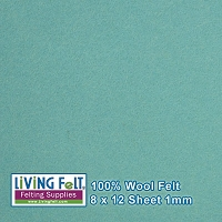 Felt Sheet 8 x 12 - 100% Wool - MARINA