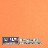 Felt Sheet 8 x 12 - 100% Wool - PEACH