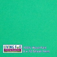 Felt Sheet 8 x 12 - 100% Wool - SEA GLASS