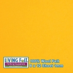 Felt Sheet 8 x 12 - 100% Wool - SUNSHINE