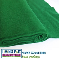 Felt Fabric 1mm - Forest Green  - 100% Wool