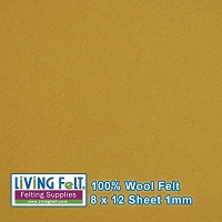 Felt Sheet 8 x 12 - 100% Wool - DIJON