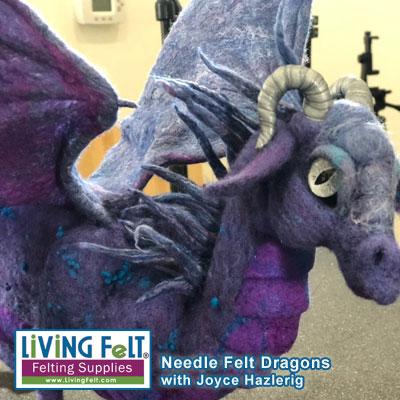 Needle felt Dragon