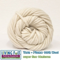 Wool Yarn - Plume - Ecru
