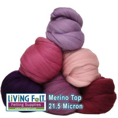 Merino Top - 16 Micron Assorted Colors by oz