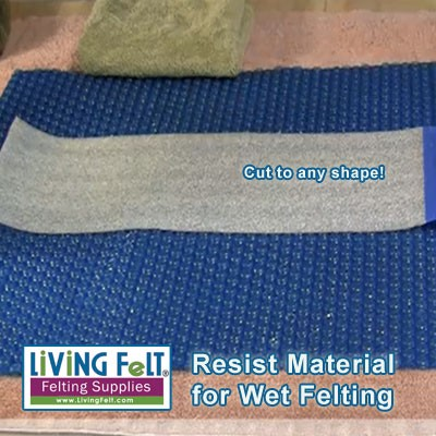 Wet Felting Supplies Resist Thick Material