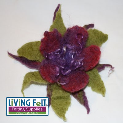 Make fun and wonderful multi-layered flowers with wet felting