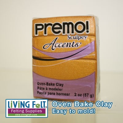 Premo Oven Bake Clay - GOLD METALLIC