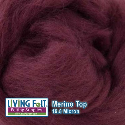 Merino Top – 19.5 Micron – Mulberry