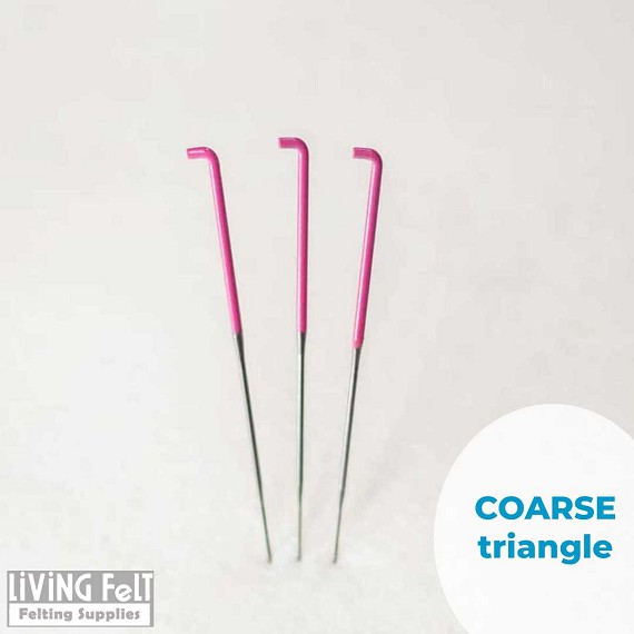 Felting needles, 36 Triangle, coarse felting needle, 3 pack