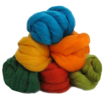 NZ Corriedale Wool Assorted by oz